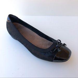 Clarks Black Ballet Flats